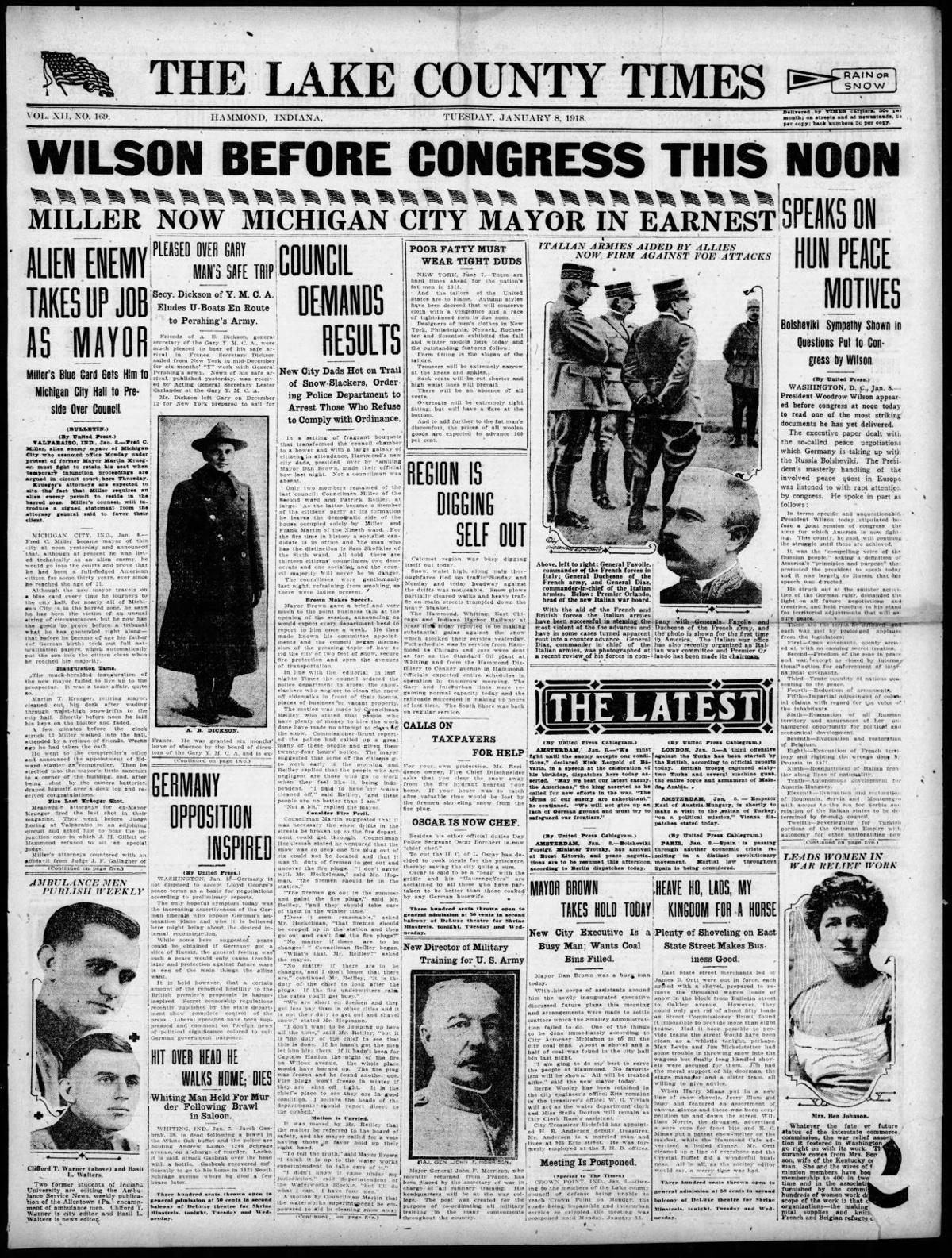Jan. 8, 1918: Alien Enemy Takes Up Job As Mayor