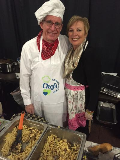 Porter County Sheriff Dave Reynolds and Wife Debbi Reynolds with Their Creamy Pasta and Sausage Family Recipe