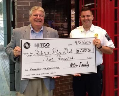 NITCO donates to Hebron Police Department