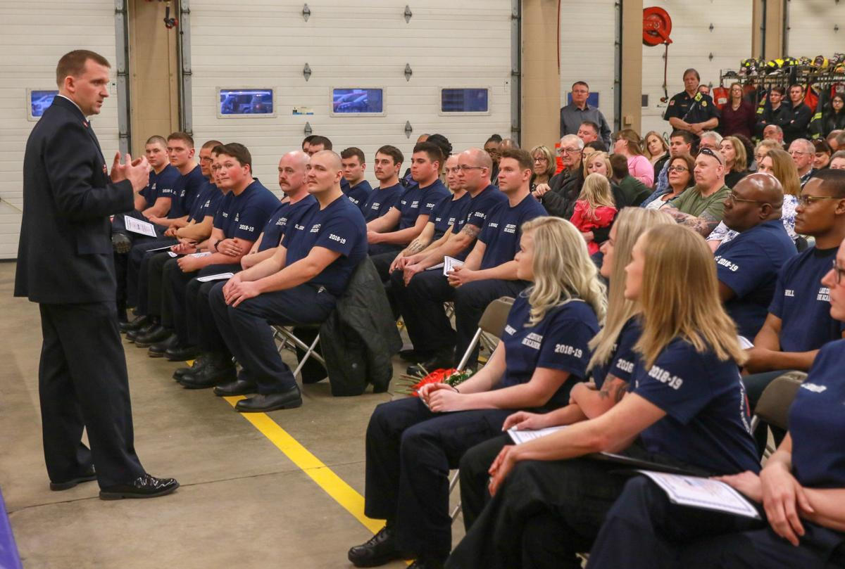 Lake County Recruit Fire Academy graduation