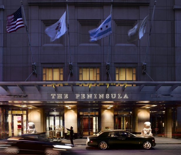 Arriving At The Peninsula Chicago