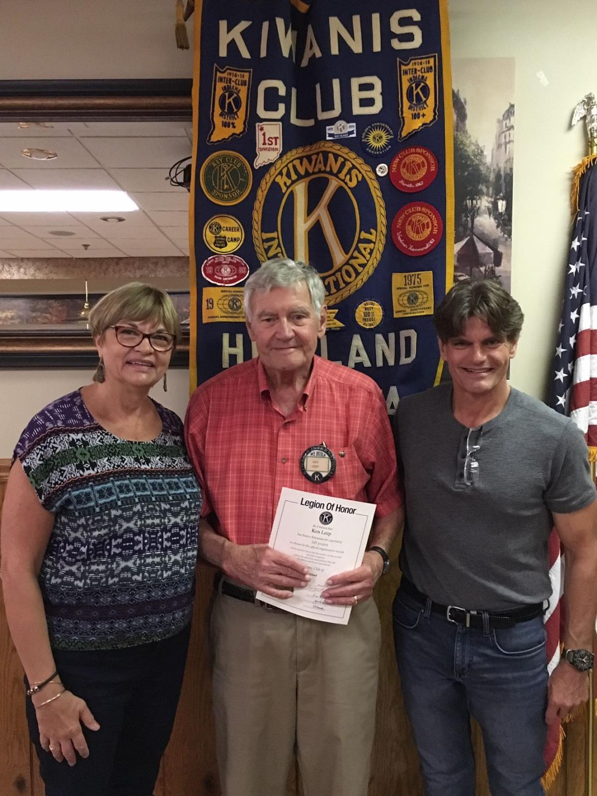 Ken Leep celebrates 50 years as a Highland Kiwanian