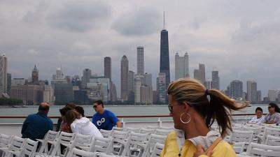 Melissa Paretti and her family take a architecture water taxi tour of Chicago on Aug. 17, 2011. Traveling with adult children can be rewarding, too.
