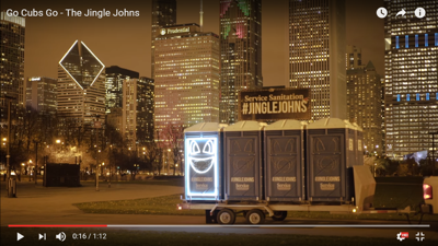Singing port-a-potties celebrate World Series win with 'Go Cubs Go'