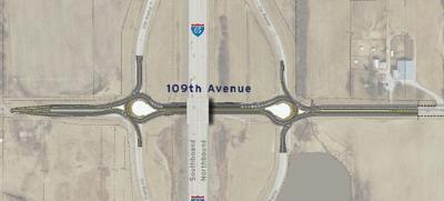 Dogbone interchange at I-65 in Crown Point