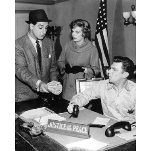 """Andy Griffith with Danny Thomas and Majorie Lord in a 1960 Episode of """"Make Room for Daddy"""""""