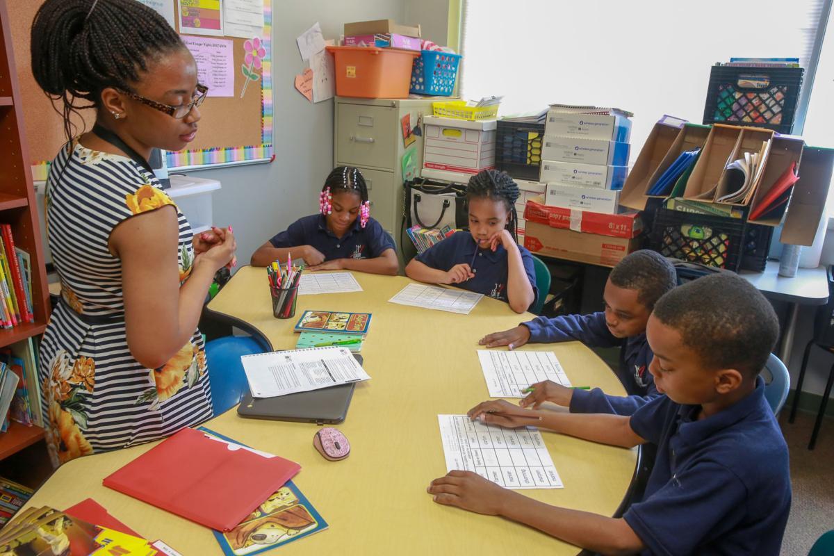 Raven Osborne teaching at 21st Century Charter School