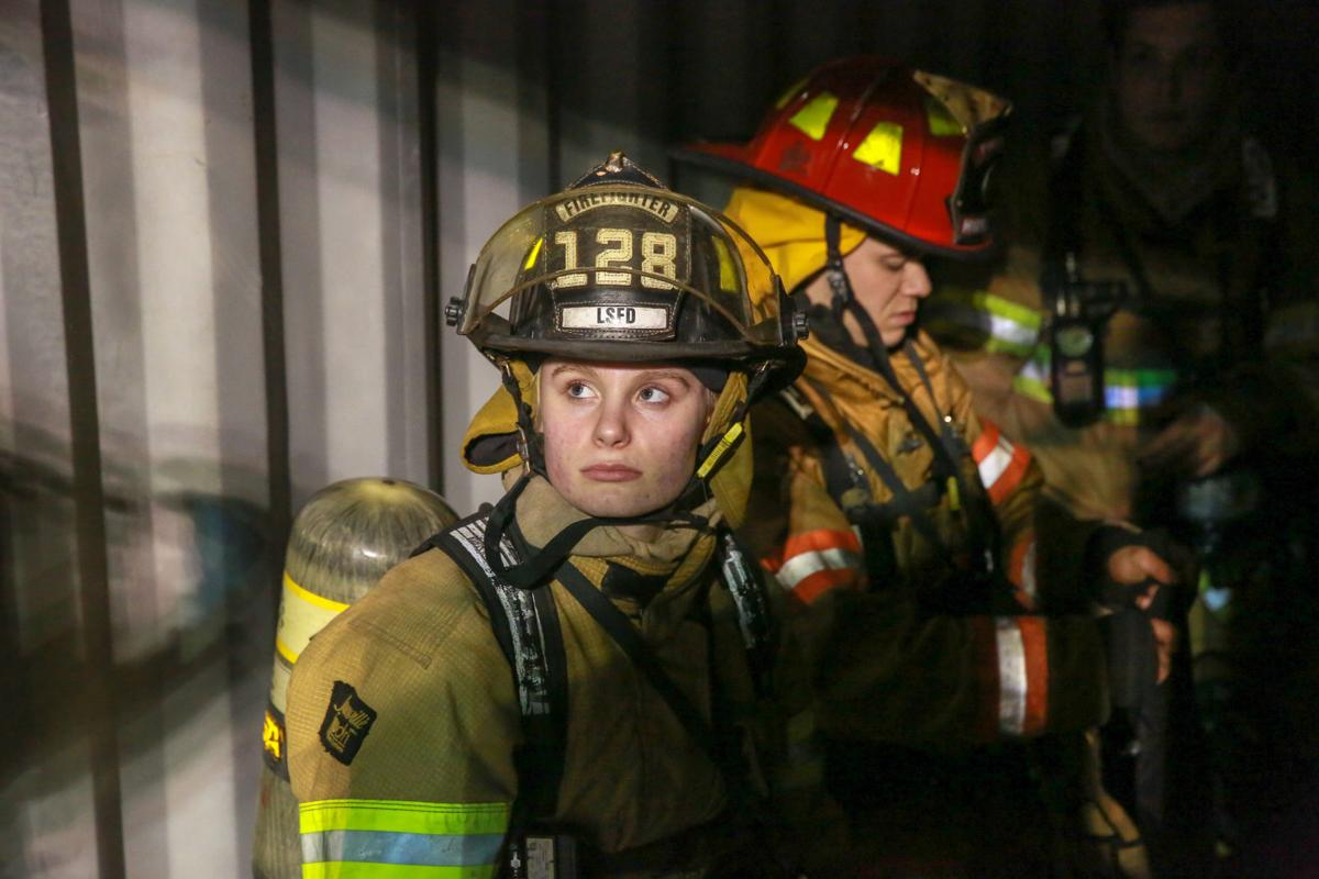 Taeylor Holliday is currently the youngest fire fighter cadet