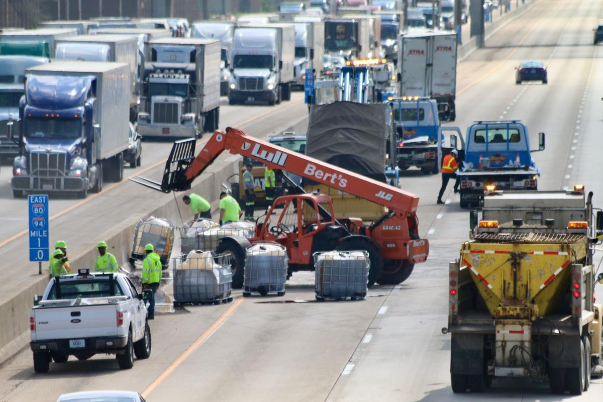 UPDATE: Spilled honey causes sticky situation on I-94; some detours also slow