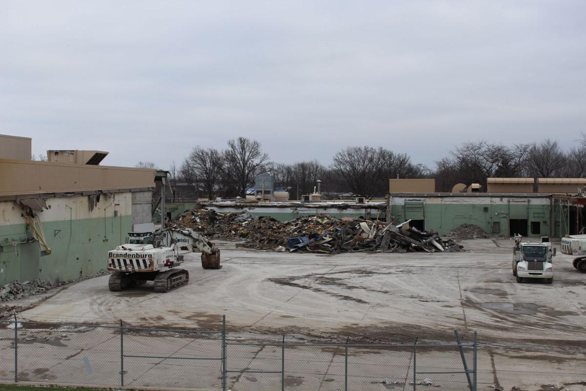 Former Urschel Laboratories headquarters being demolished
