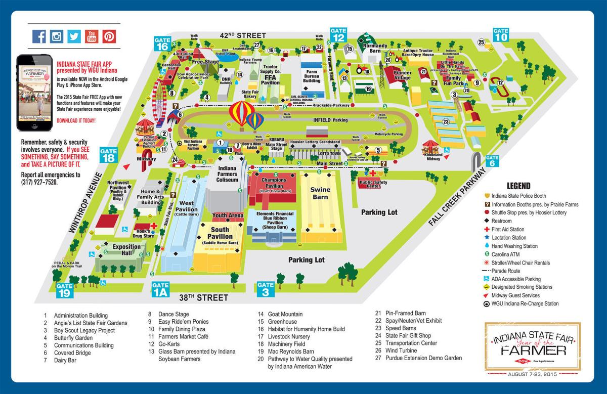 Map of the 2015 Indiana State Fair | | nwitimes.com
