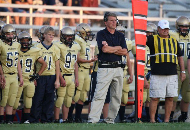 New Prairie's Radtke in the middle record book confusion (NEW PORTAGE COACH)