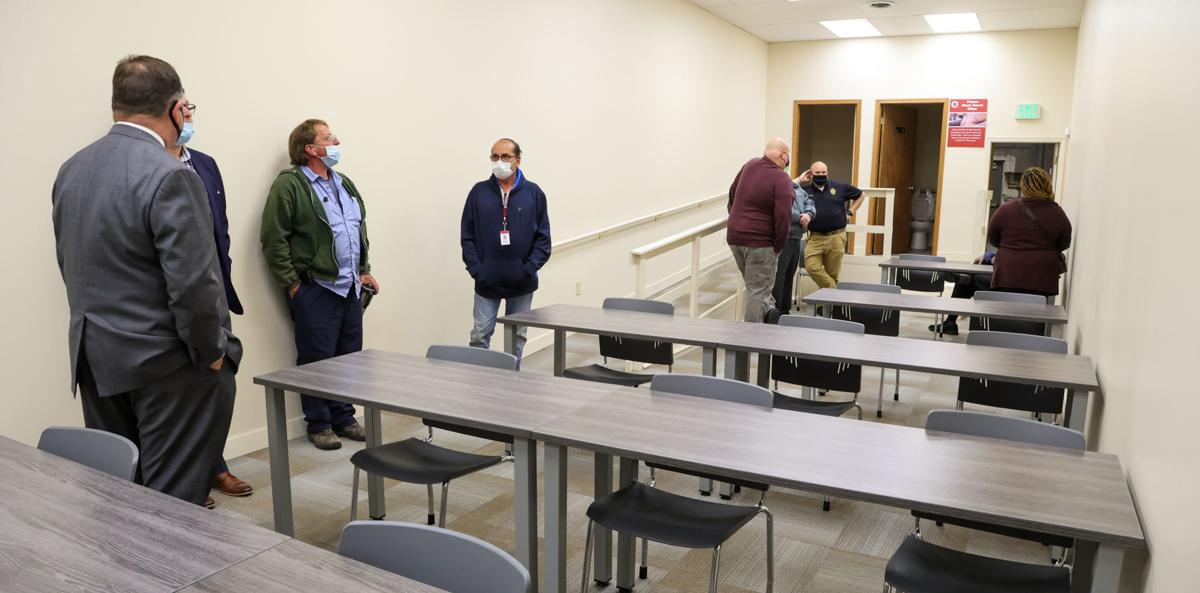 Merrillville Police Department tour of police north station