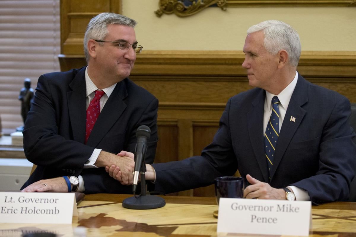 Mike Pence, Eric Holcomb in November 2016