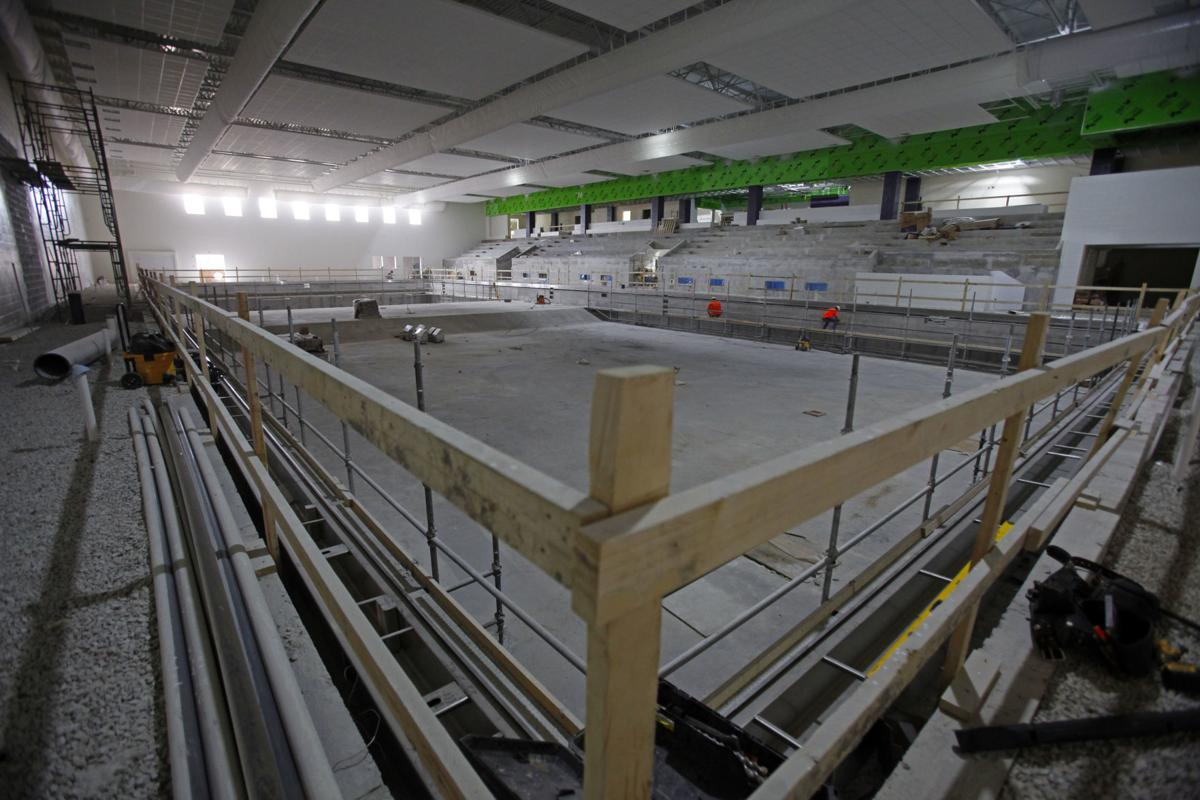 New Hobart High School natatorium construction
