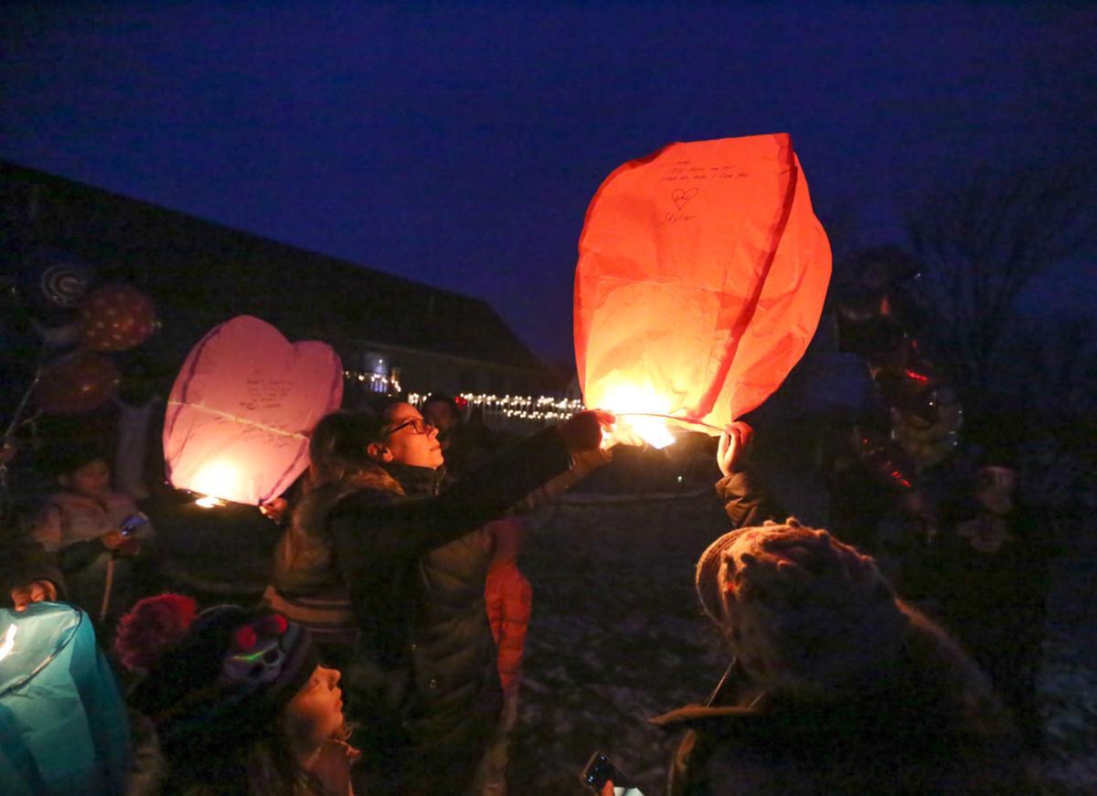 Lantern release, Nicholas Lile's 43rd birthday