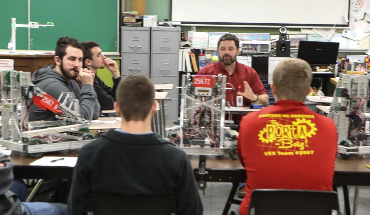 Learning robotics at Portage High Schoo