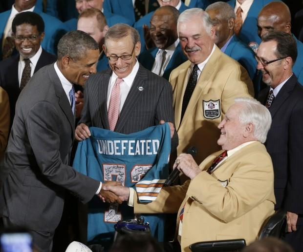 Barack Obama, Larry Csnoka, Don Shula