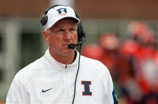 New Illinois AD fires football coach Cubit after 1 season
