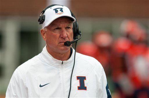 New Illinois AD fires football coach Cubit after 1 season
