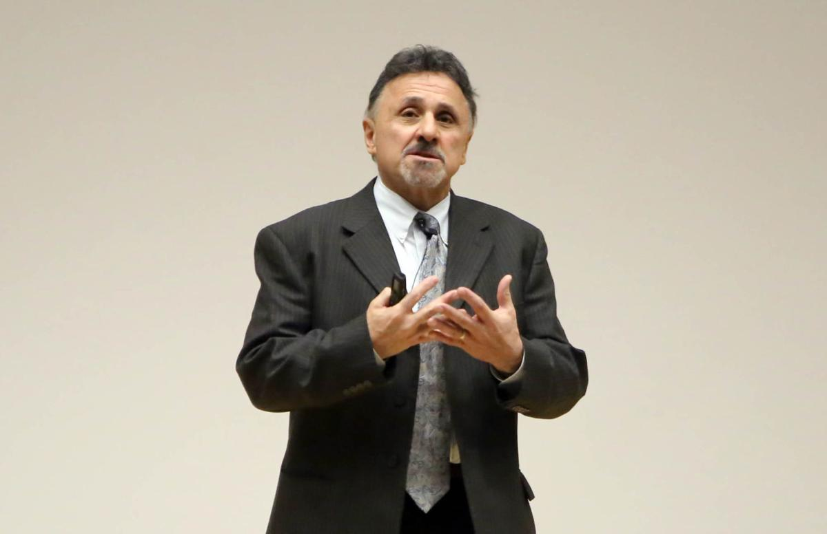 Frank DeAngelis, staffer at Columbine in 1999, speaks at Ivy Tech