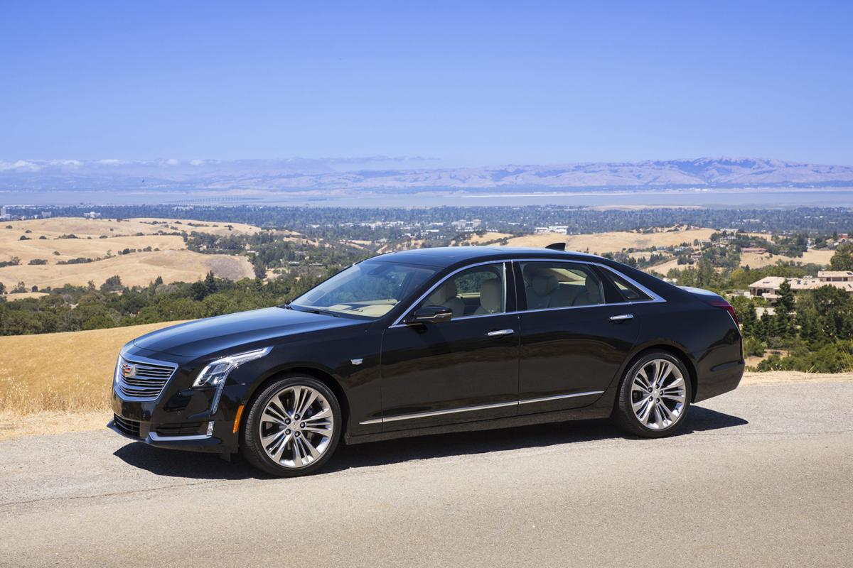 The 2018 Cadillac CT6 will feature Super Cruise™, the industry's first true hands-free driving technology for the highway. Pre-production vehicle shown here in Stellar Black Metallic exterior and Very Light Cashmere with Maple Sugar accented interior.
