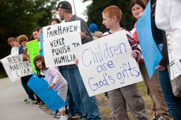 Protesters allege abuse at Fairhaven