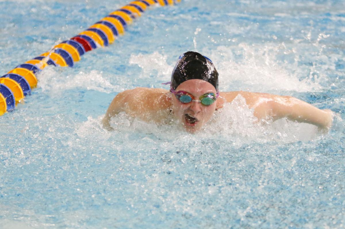 Girls Swimming at Highland Invitational