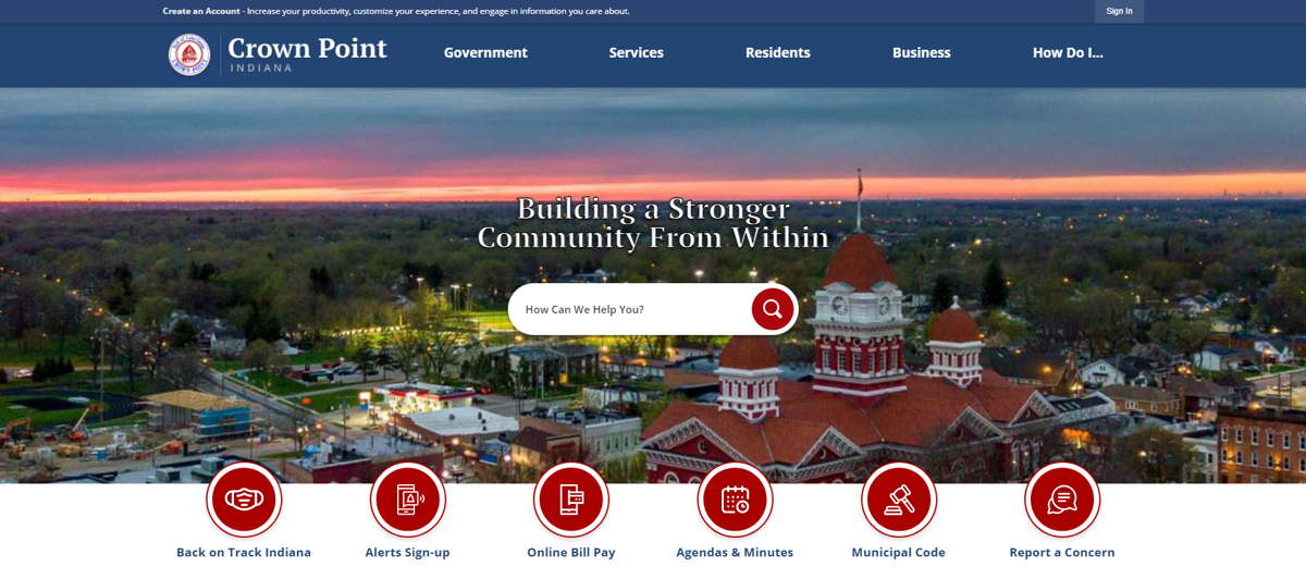 Crown Point launches new website, app