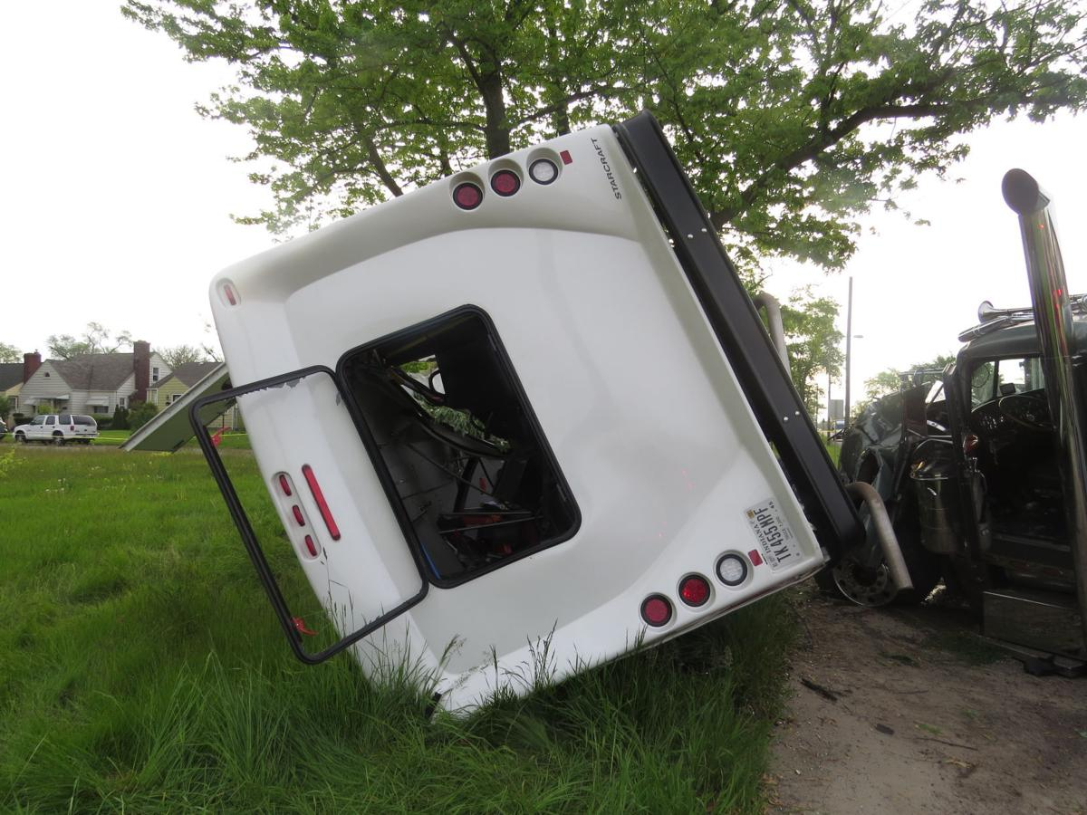 Medical transport van involved in Tuesday's accident
