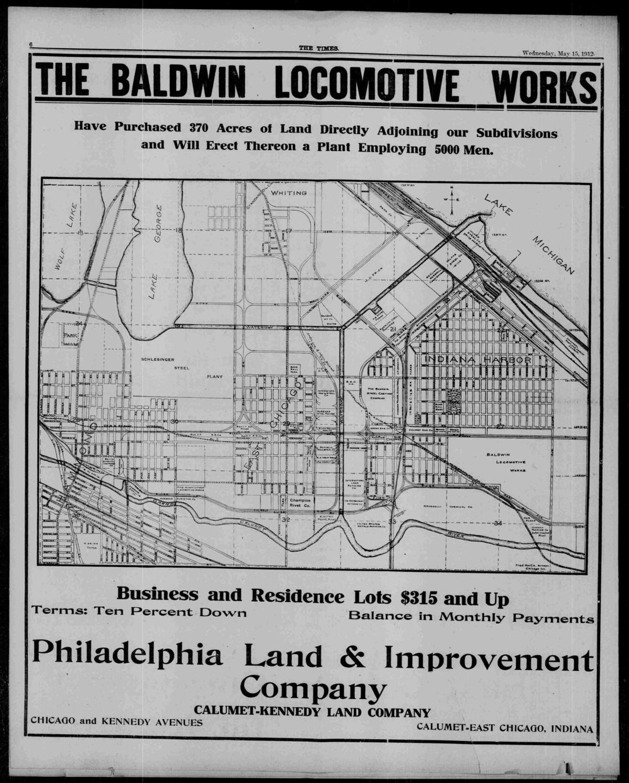 Baldwin Locomotive ad