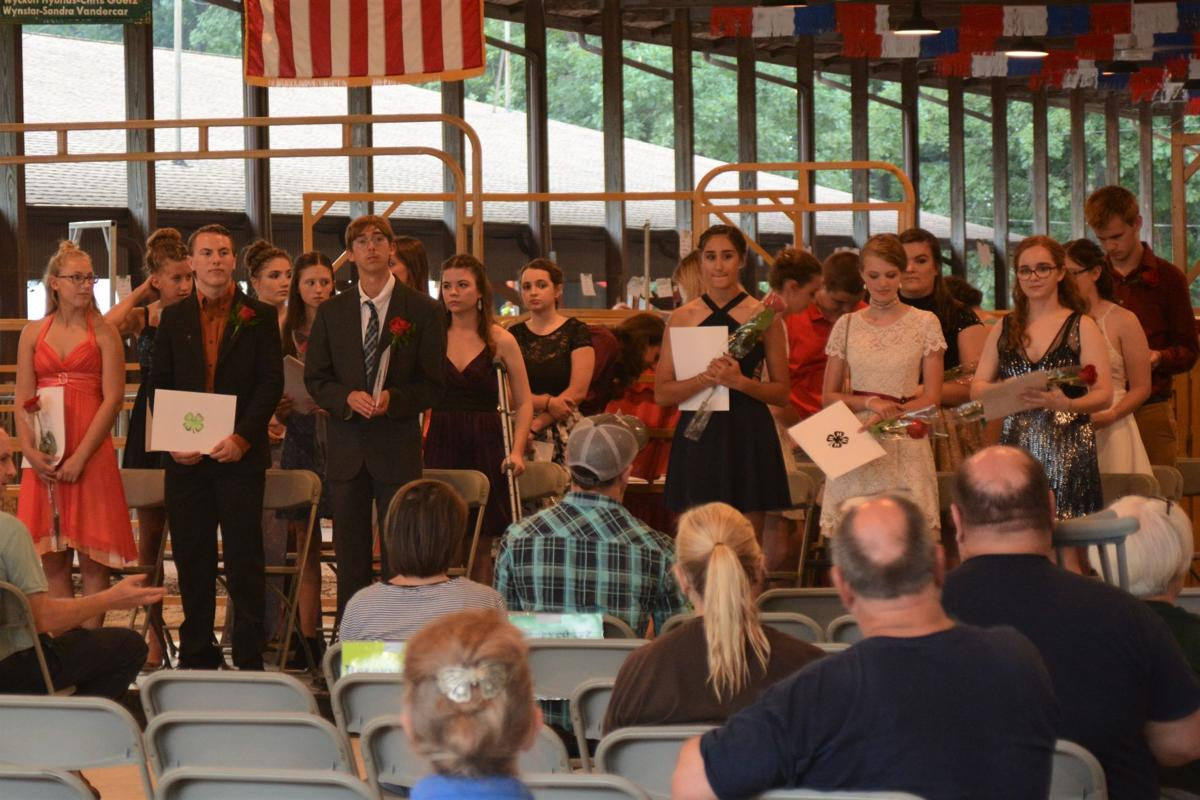 Lake County 4-H Ambassador Board members are recognized during the 4-H achievement night at the Lake County Fair.