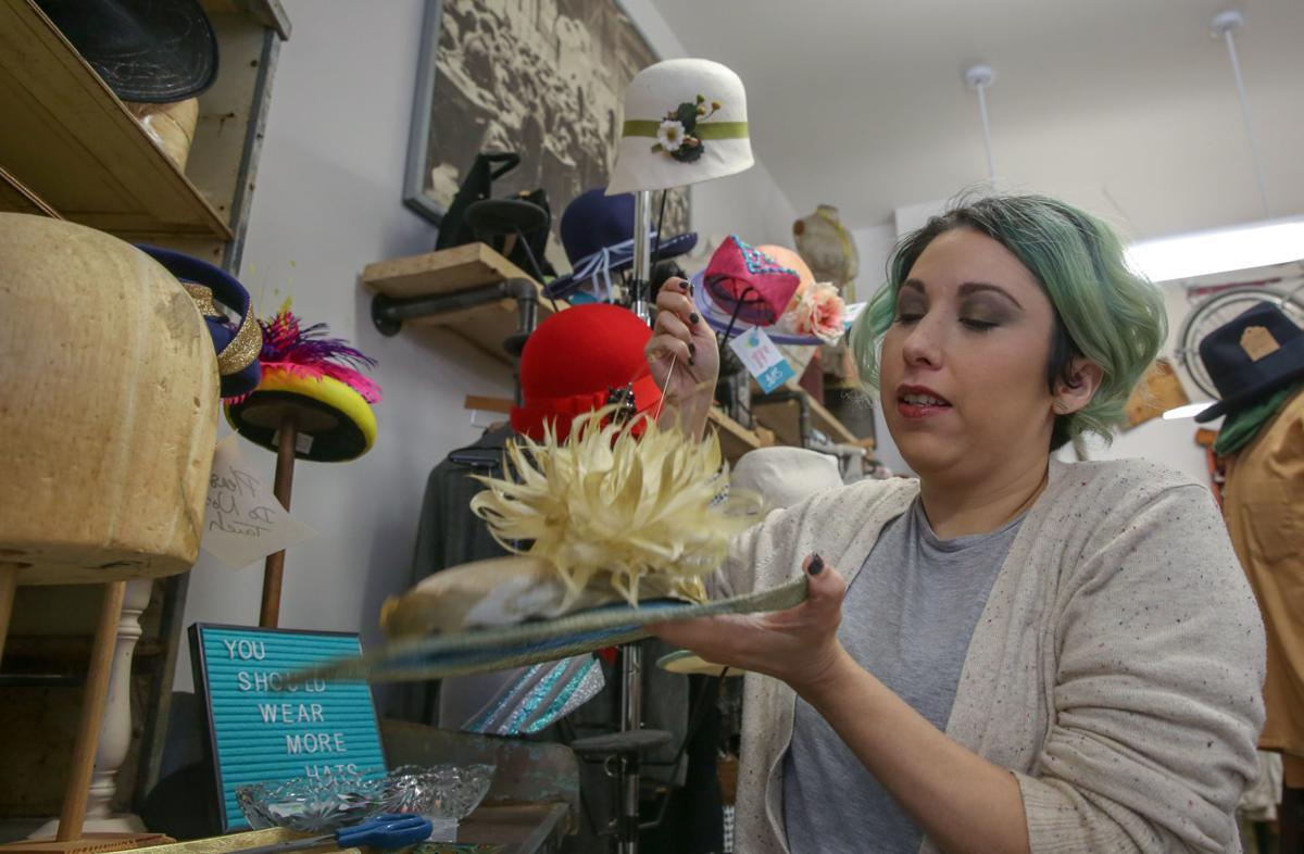 Amanda Joyner has created hats for about 8 years