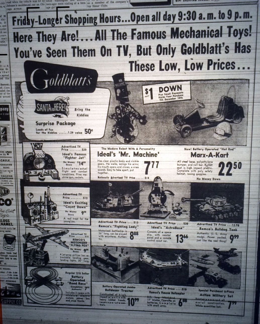 Gallery: When Black Friday ads were black and white   Photos and