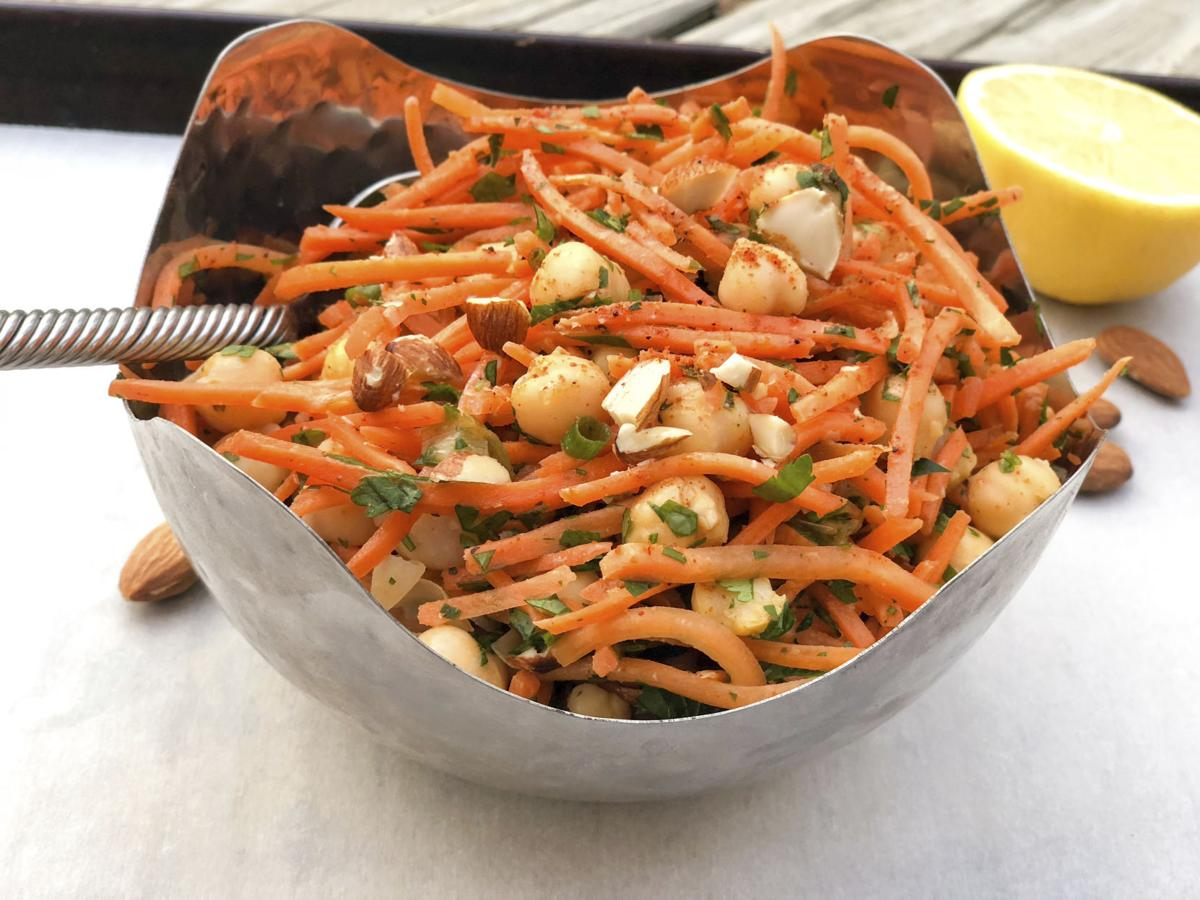 Food Healthy Carrot Chickpea Salad