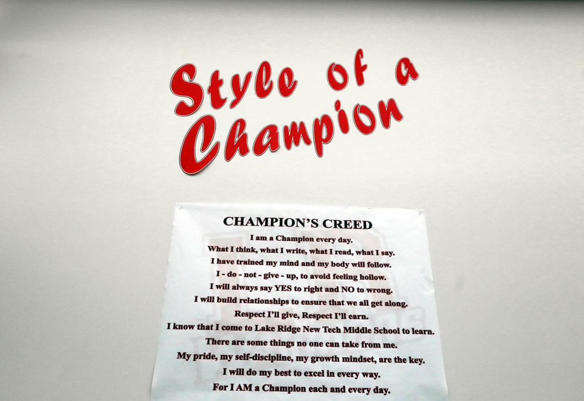 Lake Ridge New Tech Middle School develops a 'creed' for 'Champions'