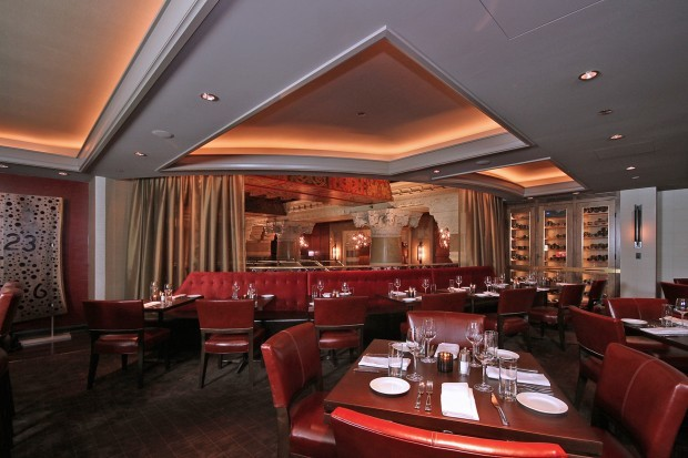 Dining Room at Michael Jordan's Steak House on Michigan Avenue Chicago