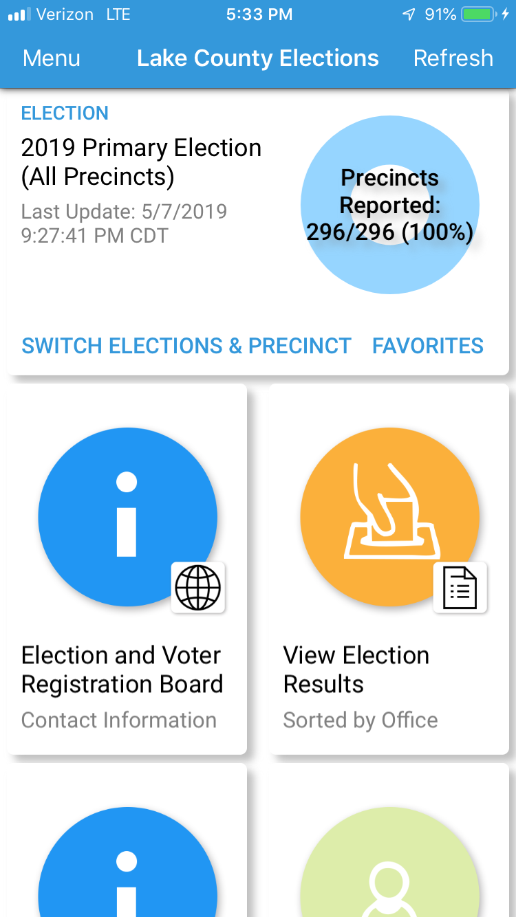 Lake County Elections app
