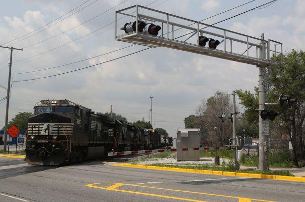 Freight train in Hammond