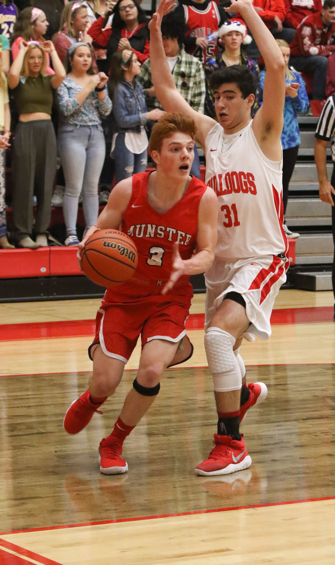 Boys basketball - Munster at Crown Point