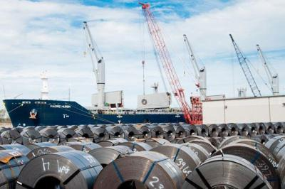 U.S. steel exports rose 13 percent last year