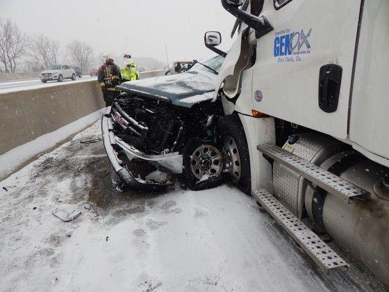 Snow blamed for fatal crash on I-65, jack-knifed semi on I-94