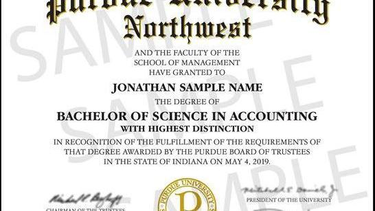 Purdue University Northwest graduates no longer to receive