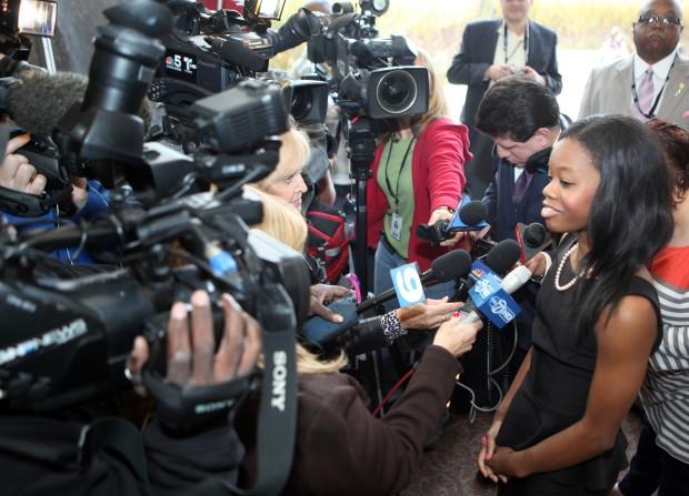 Olyimpian Gabrielle Douglas visits IUN