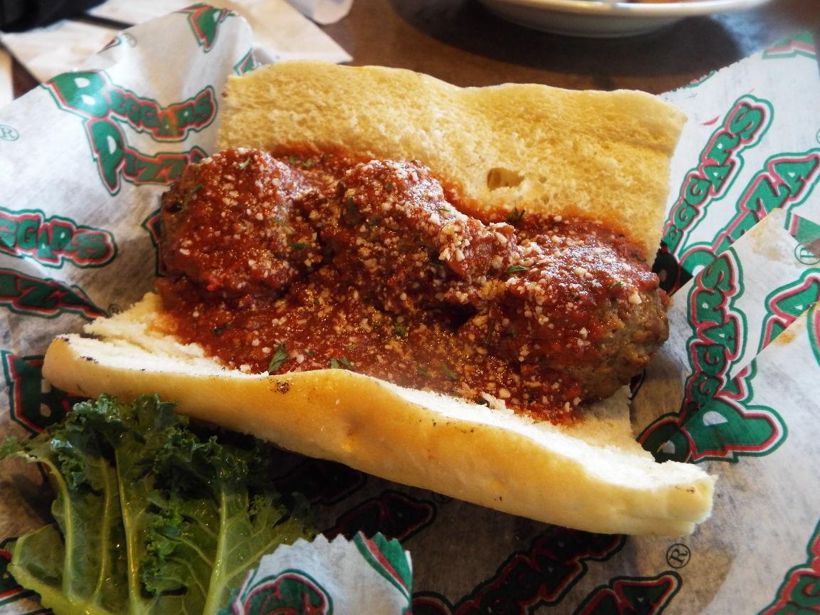 Italian Meatball Sandwich at Beggars Pizza