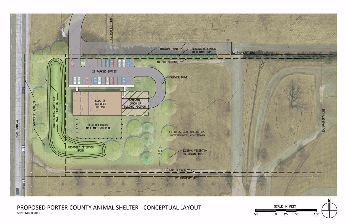 Proposed Porter County animal shelter