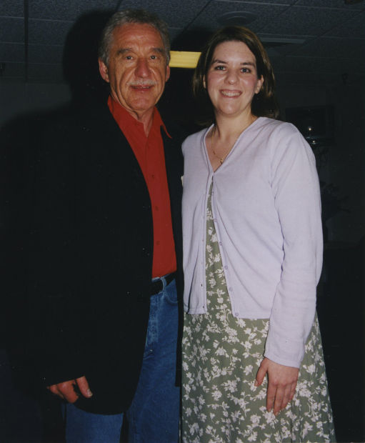"""The Tonight Show"" Bandleader Doc  Severinsen with Amy Scamerhorn in April 1999"