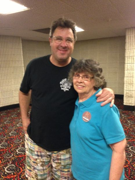 Country Singer Vince Gill with Peggy Potempa, Mother of Times Columnist Philip Potempa