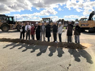 Groundbreaking in Portage
