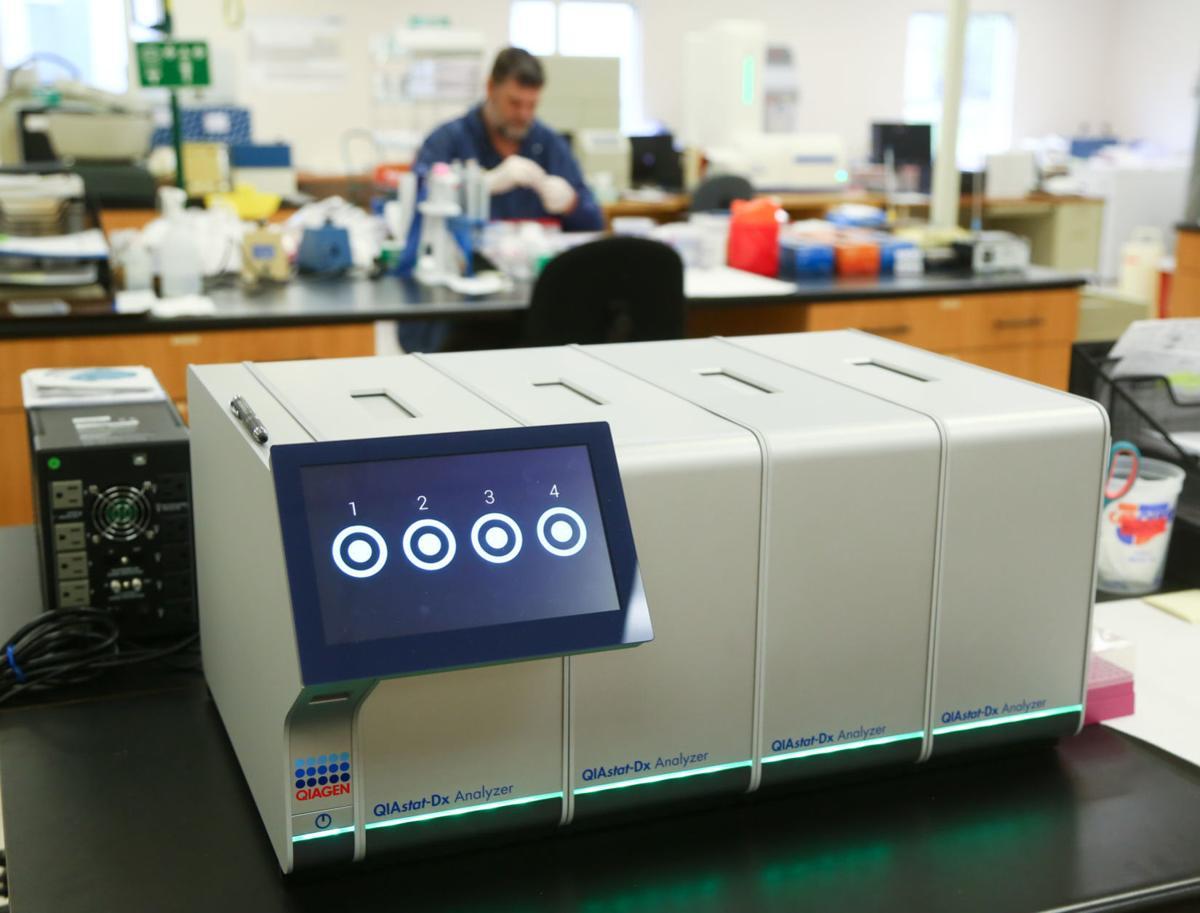 Virus testing at Great Lakes Labs